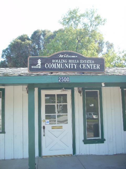 Rolling Hills Estates community center sign