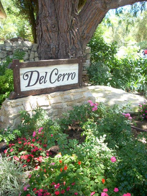 Del Cerro sign in Palos Verdes